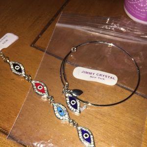 Jewelry - Jimmy Crystal Evil Eye Bracelets
